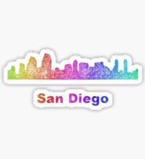 Rainbow San Diego skyline Sticker