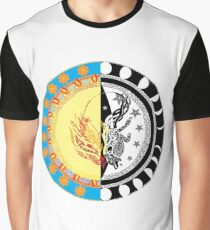 Phenix Sun, Wolf Moon Graphic T-Shirt