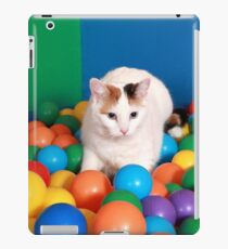 Cat Playing in balls iPad Case/Skin