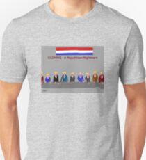 Cloning, A Republican Nightmare, by Roger Pickar, Goofy America T-Shirt