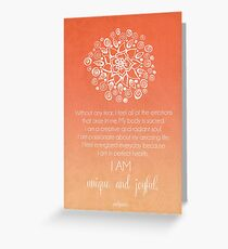 Sacral Chakra Affirmation Greeting Card