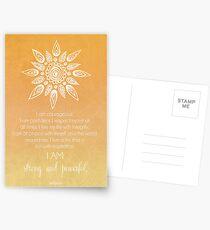 Solar Plexus Chakra Affirmation Postkarten