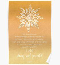 Solar Plexus Chakra Affirmation Poster