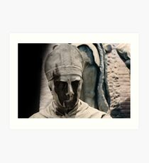 monument, Wicked face Art Print