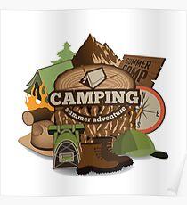 Camping insignia Poster