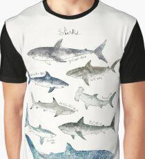 Sharks - Landscape Format Graphic T-Shirt