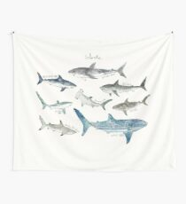 Sharks - Landscape Format Wall Tapestry