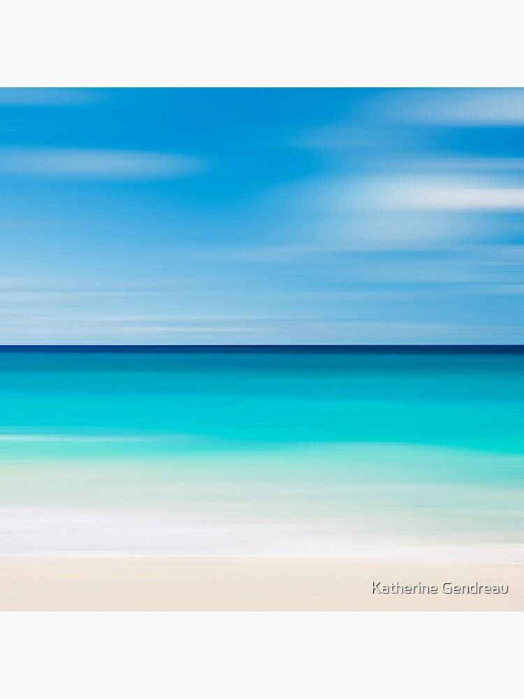 Coastal Decor Throw Pillow Beach Cottage Living Room Teal Turquoise Aqua Beige White Nautical Decor Tropical Beach Abstract Photo Pillow von kgendreauphoto