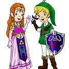 Zelda and Link  by Bantambb