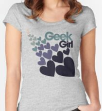 Geek Girl Women's Fitted Scoop T-Shirt