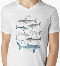 Sharks - Landscape Format Men's V-Neck T-Shirt