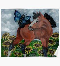 Mixed Media Foal Poster
