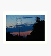 Wires through the forest Art Print