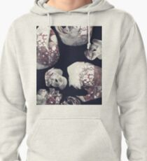 Marbled Patchwork Brush Strokes Pullover Hoodie