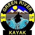 KAYAK GREEN RIVER UTAH KAYAKING WHITEWATER CANOE CANOEING by MyHandmadeSigns