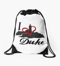 Haven I Love Duke Logo Drawstring Bag