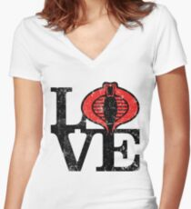 LOVE COBRA Women's Fitted V-Neck T-Shirt