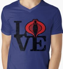 LOVE COBRA Men's V-Neck T-Shirt