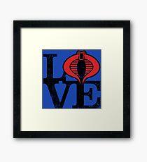 LOVE COBRA Framed Print