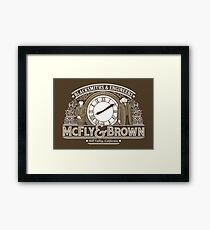 McFly & Brown Blacksmiths Framed Print