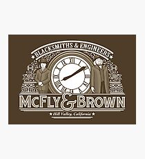 McFly & Brown Blacksmiths Photographic Print