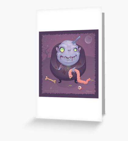 Blob Zombie Greeting Card