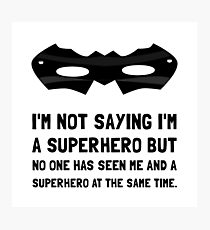 Me And Superhero Photographic Print