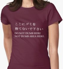 NO DUMB HERE Women's Fitted T-Shirt