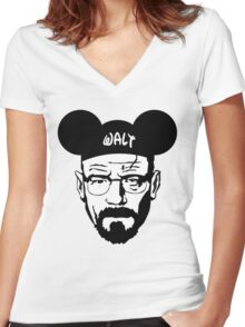 WALT MOUSE EARS Women's Fitted V-Neck T-Shirt