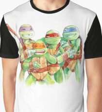 TMNT Watercolor Graphic T-Shirt