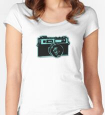 old fashion camera Women's Fitted Scoop T-Shirt