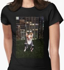 Boxing Dog Women's Fitted T-Shirt