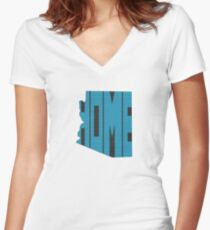 Arizona HOME state design Women's Fitted V-Neck T-Shirt