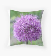 blooming giant onion Throw Pillow
