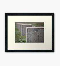 gravestone unknown soldier Framed Print