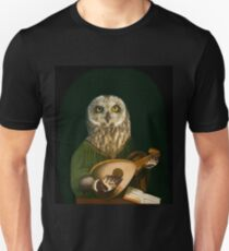 Owl Playing the Lute - Composite Painting T-Shirt