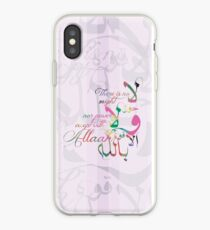There is no might nor power except with Allah iPhone Case