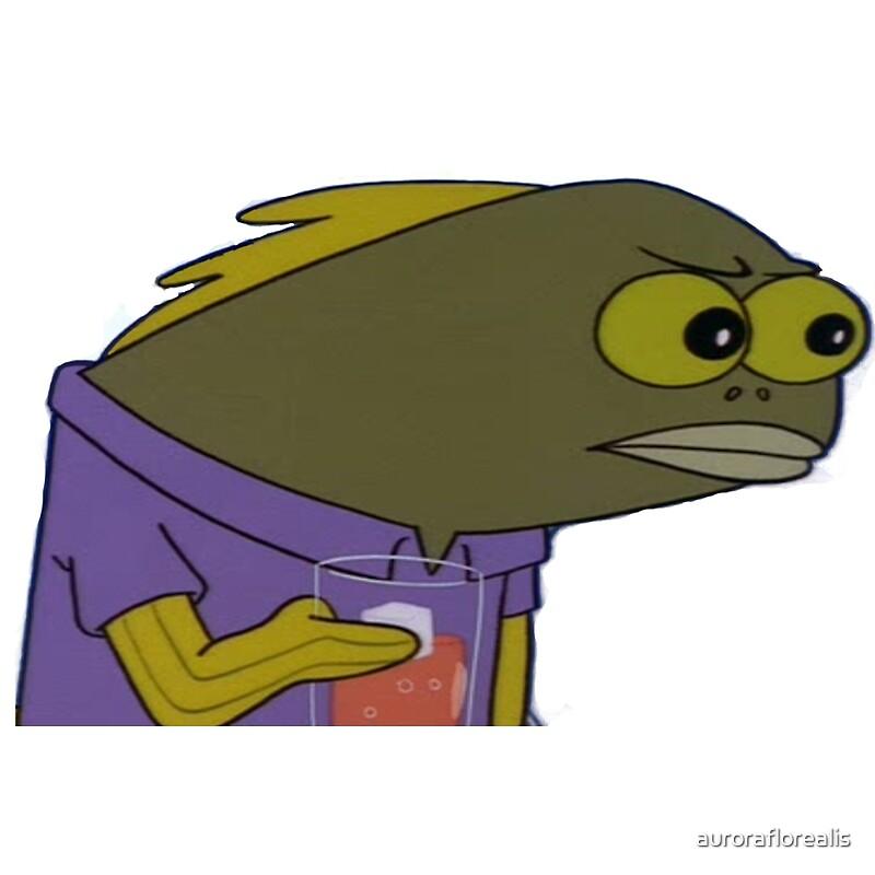 Quot Spongebob Fish Meme Quot By Auroraflorealis Redbubble