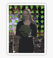 Broccoli Woman Sticker