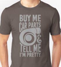 Camiseta ajustada Cómprame partes de autos y dime que soy bonita