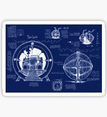 Time Machine Blueprints Sticker