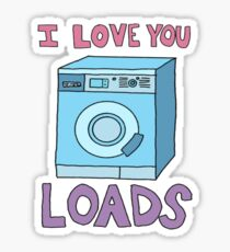i love you loads washing machine Sticker