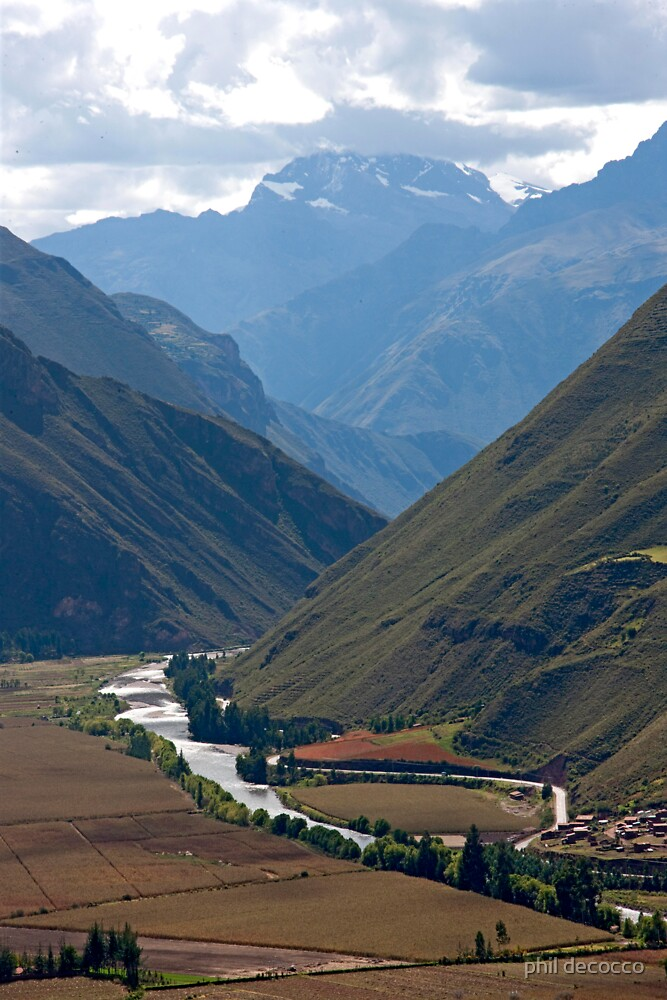 Urubamba River Valley by phil decocco