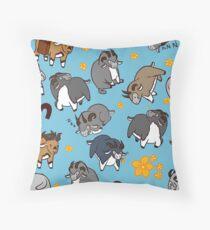 Cute Dolyak Pattern Throw Pillow