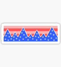 Stars & Stripes Mountain Landscape Sticker