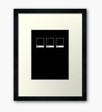Black #000000 Framed Print