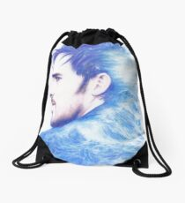 Born With The Sea In His Blood Drawstring Bag