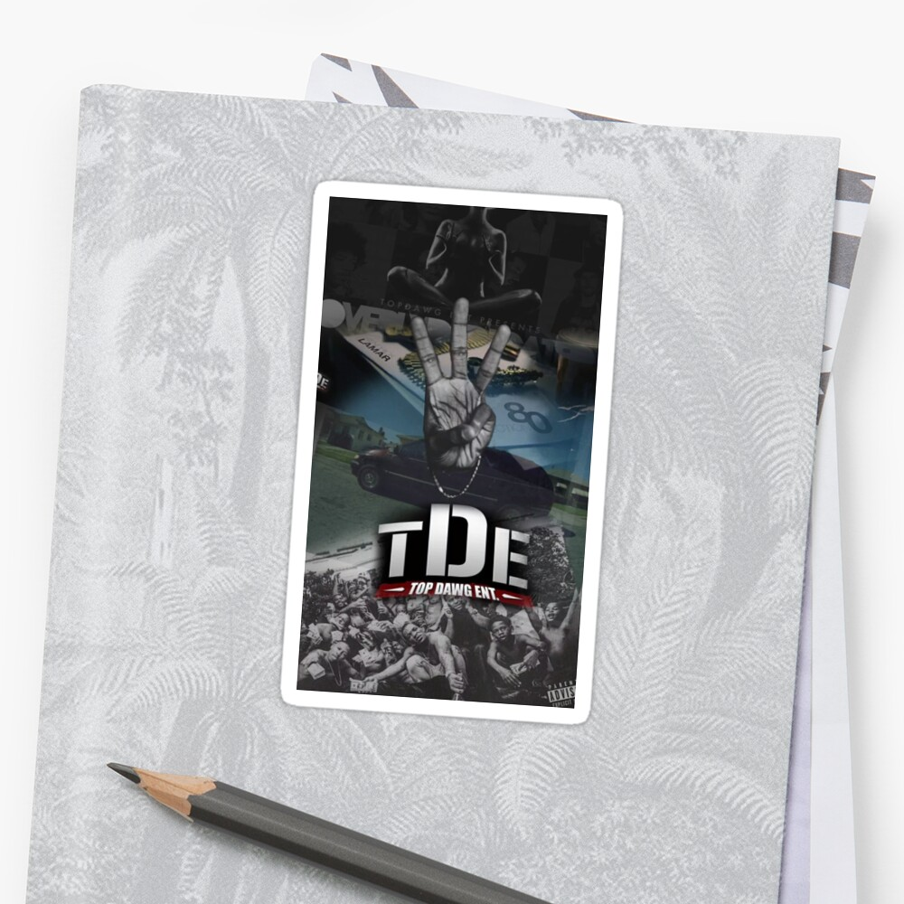 quotkendrick lamar hiiipower tde album mashupquot stickers by