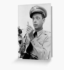 Gun Crazy Barney Greeting Card