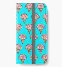 Mellow Brains Scattered cones Aqua iPhone Wallet/Case/Skin